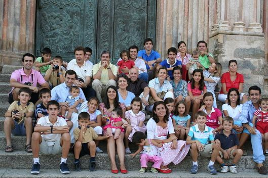 An extended family in Spain.